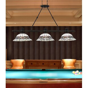 Millwood Pines Gauguin Tiffany 3-Light Pool Table Light Pendant
