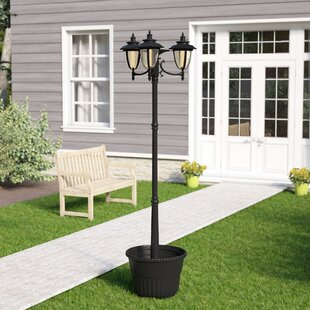 Darby Home Co Wheelersburg Three Head Solar 3-Light LED 85