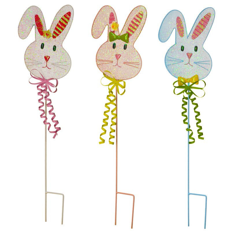 Easter Bunny Rabbit Spring Holiday Party Favor Gift Toy Plastic Bunny 4 COLORS