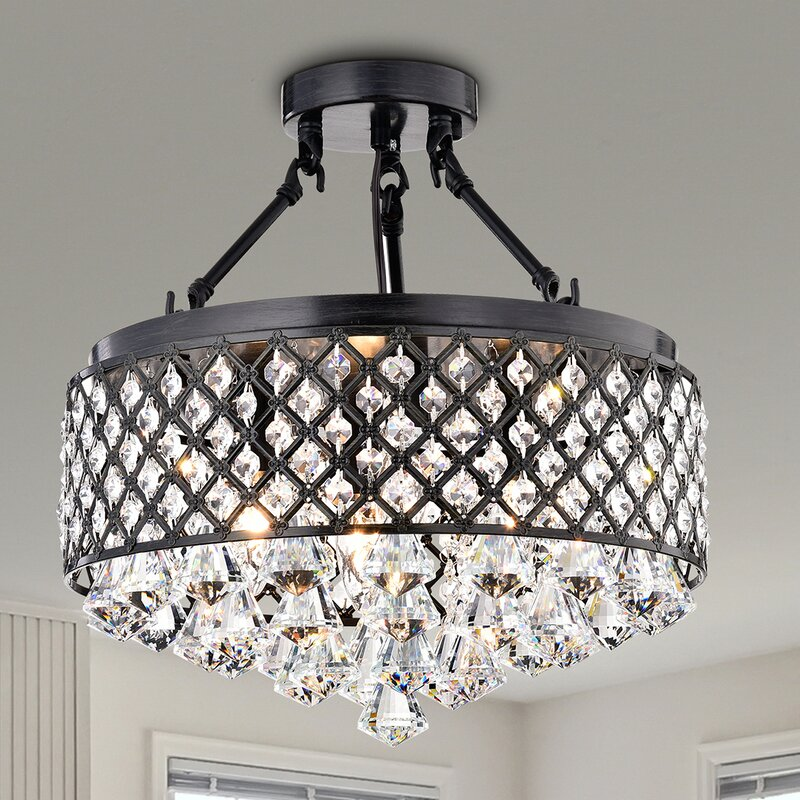 Gracelyn 4 light semi flush mount