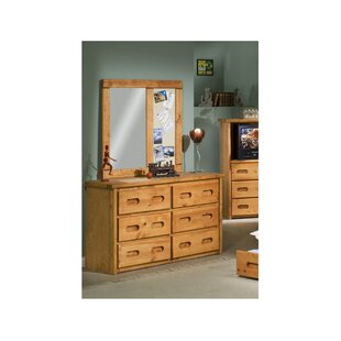 Best Choices Erwinau 6 Drawer Double Dresser with Mirror by Harriet Bee Reviews (2019) & Buyer's Guide