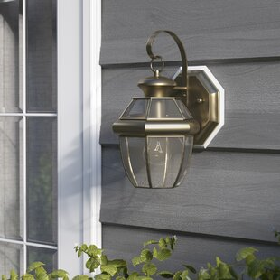 Weisberg 1-Light Traditional Outdoor Metal Wall Lantern
