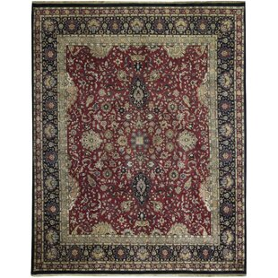 Best Price One-of-a-Kind Hand-Knotted 12'2 x 15'4 Wool Red/Black/Beige Area Rug ByBokara Rug Co., Inc.