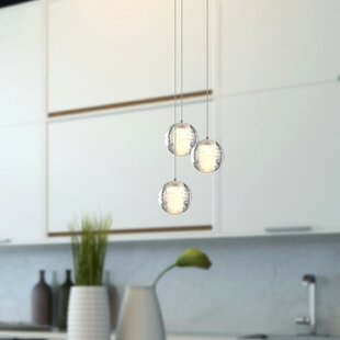 Veroniza 3-Light LED Cluster Pendant by Wrought Studio