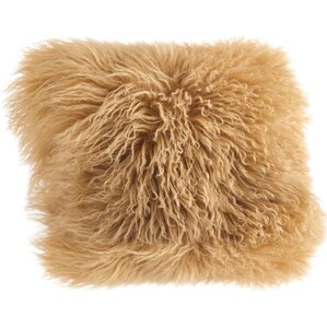 Becky Mongolian Fur Throw Pillow