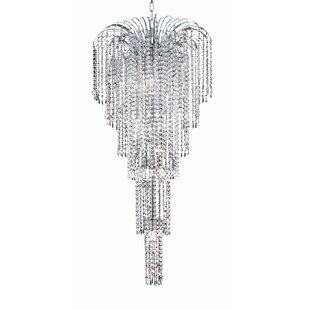 House of Hampton Westrem 9-Light Crystal Chandelier