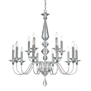 Jasmine 15-Light Candle-Style Chandelier