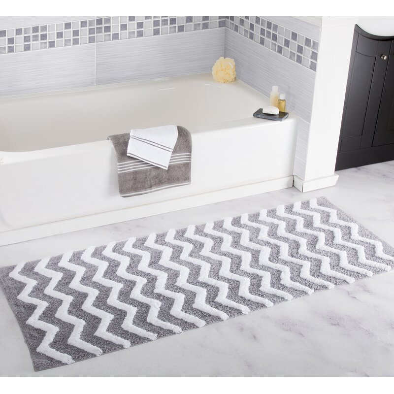 Plyh Chevron Bath Rug Reviews Wayfair