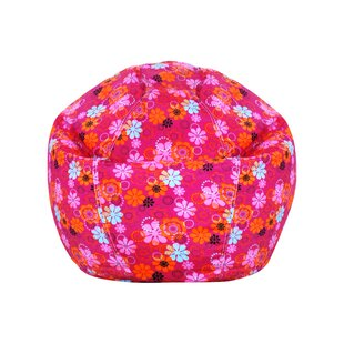 Pink Polyester Bean Bag Chair by Zoomie Kids