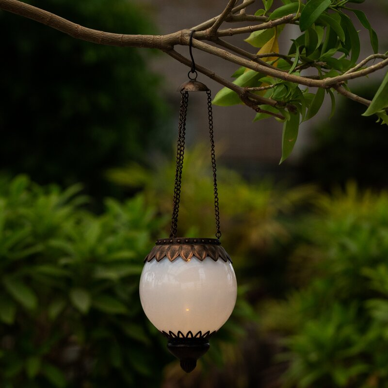 hot sale online 9dc1d 33688 Southside Solar Accent Globe 1-Light Outdoor Hanging Lantern