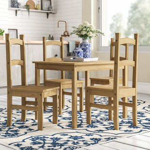 Wilmer Dining Set With 4 Chairs By Brambly Cottage