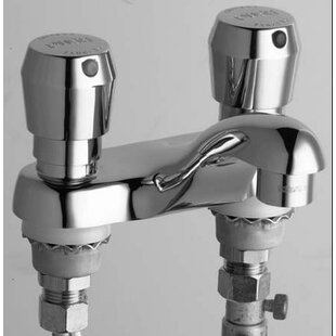 Chicago Faucets Centerset Bathroom Sink Faucet with Double Pump Handles