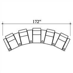 Penthouse Leather Home Theater Row Seating Row of 5