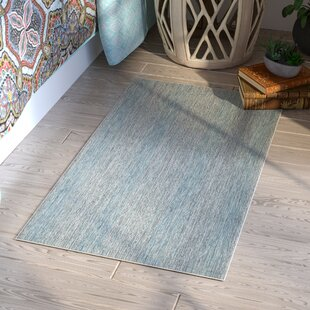 Myers Abstract Gray/Aqua Indoor/Outdoor Area Rug