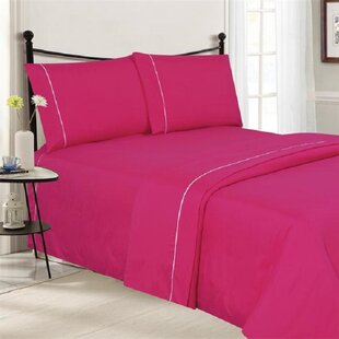 4 Piece Ultra Luxe Wrinkle Free Embossed Pipeline Sheet Set ByJ&V Textiles