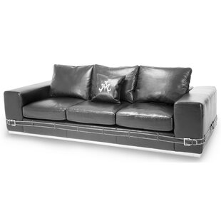Mia Bella Ciras Leather Sofa