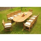 Zain Luxurious 11 Piece Teak Dining Set