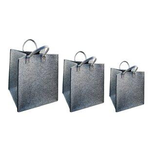 Check Prices Felted 3 Piece Storage Tote Basket Set ByWinston Porter