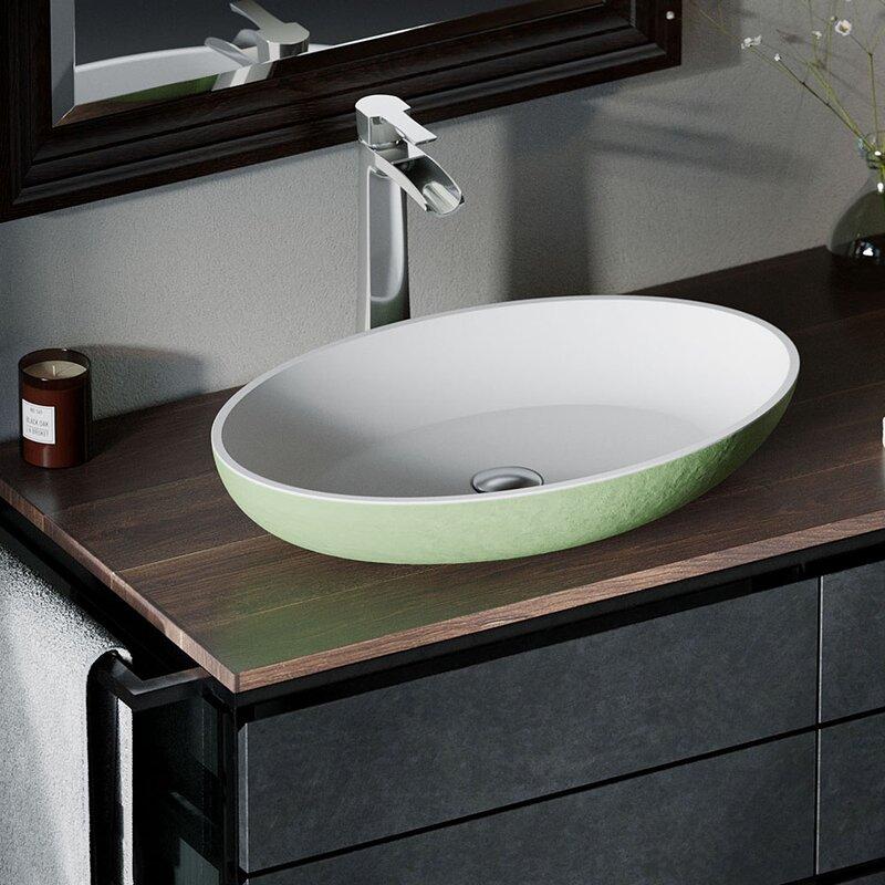 MRDirect Composite Oval Vessel Bathroom Sink   Wayfair