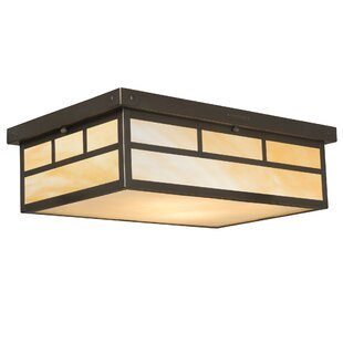Millwood Pines Emond 2-Light Flush Mount