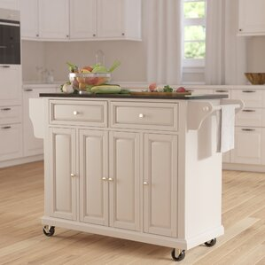 Kitchen Island Cart White white kitchen islands & carts you'll love | wayfair