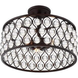 Riley 3-Light Semi Flush Mount by Mercer41