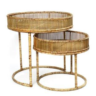 Colonial 2 Piece Nest Of Tables By Bazar Bizar