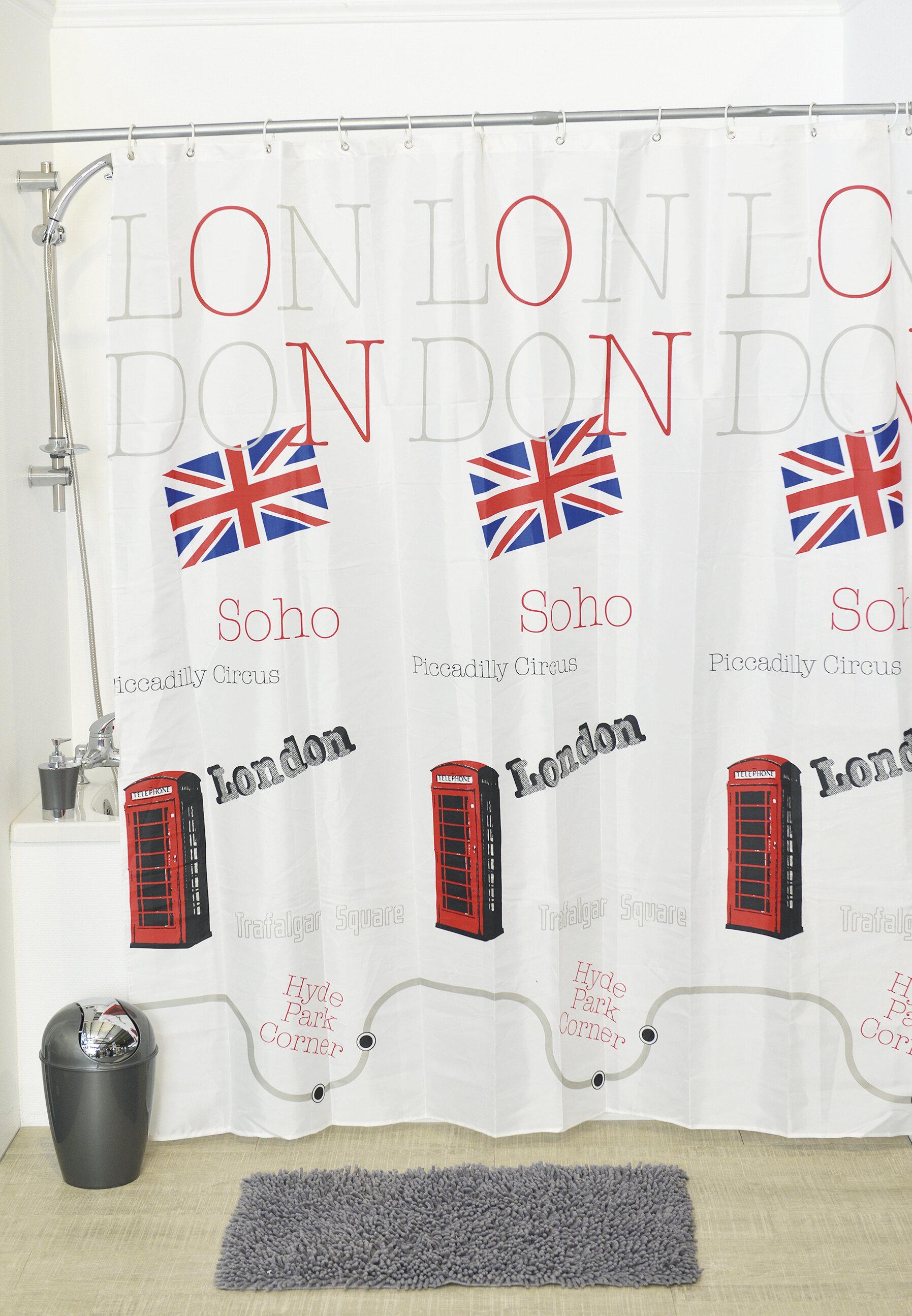 Evideco So British Shower Curtain