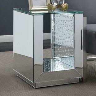 Moffitt Contemporary Glass Top End Table