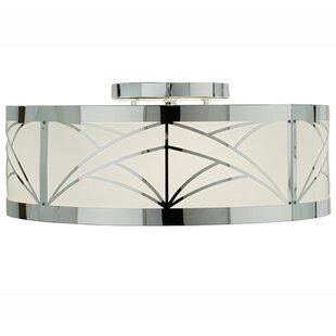 Meyda Tiffany Revival Deco Cilindro 4-Light Flush Mount