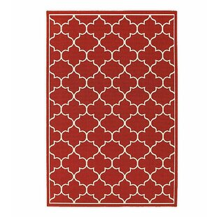 Lexington Quatrefoil Red Indoor/Outdoor Area Rug