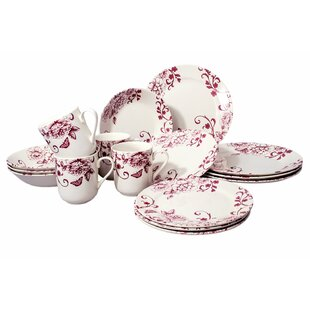 Royal Chic 16 Piece Dinnerware Set, Service for 4
