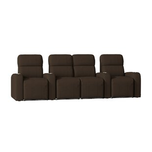Latitude Run Sleek Home Theater Row Seating with Chaise Footrest (Row of 4)