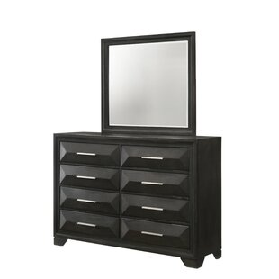 Aria 8 Drawer Double Dresser with Mirror
