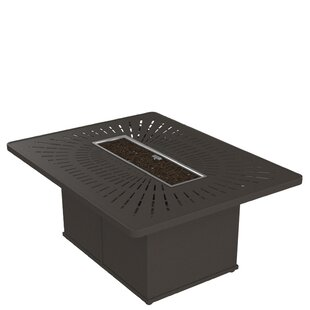 Tropitone La'Stratta Aluminum Fire Pit Table