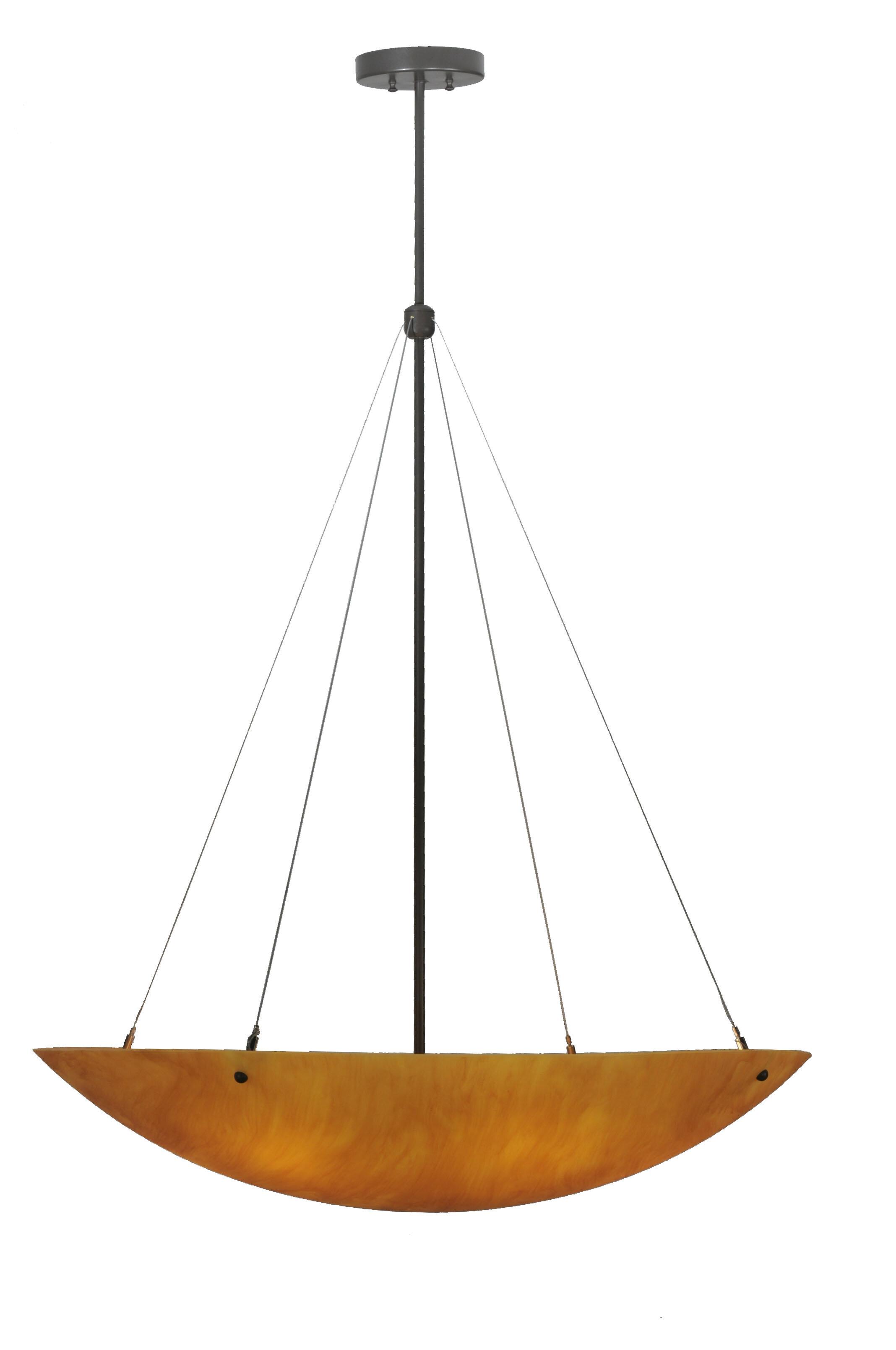 Meyda Tiffany Greenbriar Oak 6 Light Unique Statement Bowl Pendant Wayfair