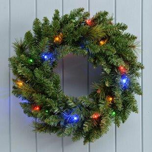 Pre-Lit Christmas 60cm Christmas Wreath By The Seasonal Aisle