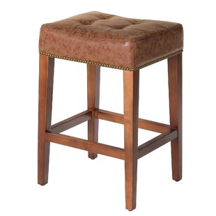 Bukovice 26 Brown Square Bar Stool by Latitude Run