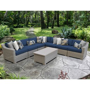 Coast 8 Piece Sectional Seating Group with Cushions