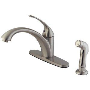 Kingston Brass Vintage Single Handle Kitchen Faucet With Non-Metallic Spray