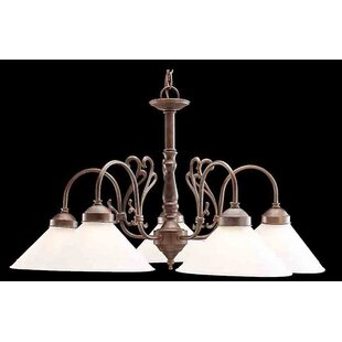 Classic Lighting Billings 5-Light Shaded Chandelier