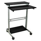 Westberg Height Adjustable Standing Desk Converter by Symple Stuff
