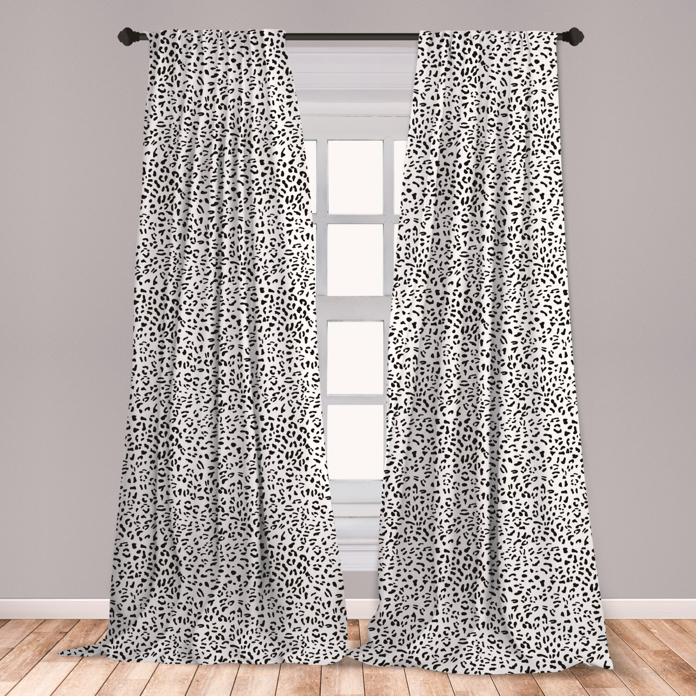 East Urban Home Animal Print Room Darkening Rod Pocket Curtain Panels Wayfair