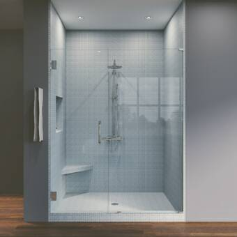 Coastal Industries Paragon Series 60 X 71 Bypass Frameless Shower Door Wayfair