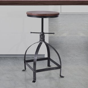 Breunig Adjustable Height Swivel Bar Stool by Williston Forge