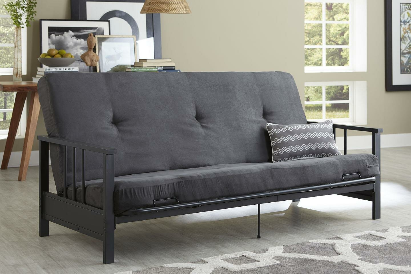 futon en providence and futons dark walmart primo more international blue ip canada