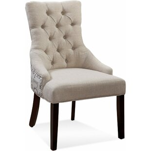 Ahearn Tufted Nailhead Parson Side Chair ..