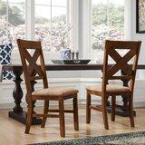 Warsaw Cross Back Side Chair in Dark Hazelnut (Set of 2) by Alcott Hill®
