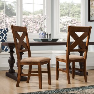 Alejandro Upholstered Dining Chair (Set of 2) by Loon Peak SKU:EE143426 Price Compare