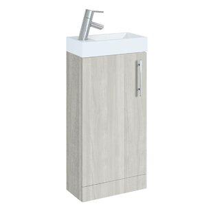 Hanska 398mm Free-Standing Cloakroom Vanity By 17 Stories